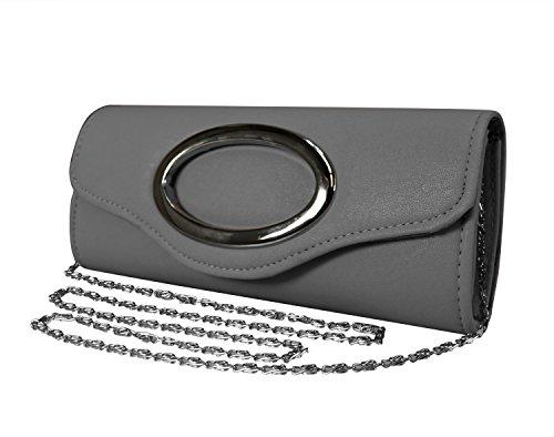 Peach Couture Cross Body Exquisite Matte Bi Fold Evening Clutch Wallet - Online Brands Shopping Major