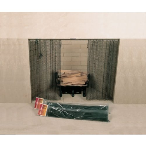 Copperfield 61076 48 x 18 Inch Woodfield Hanging Fireplace Spark Screen, Rod Not Included