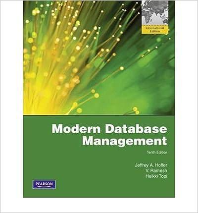 Modern database management by hoffer, jeffrey a ; venkataraman.