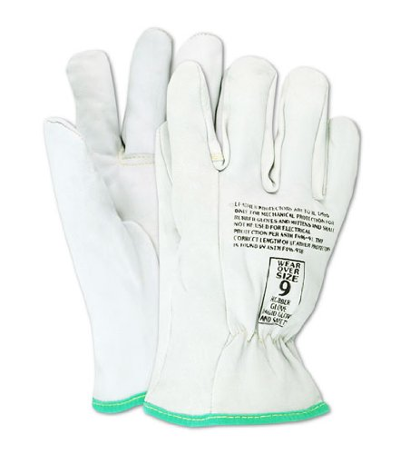 Magid 12501 PowerMaster Goatskin Leather Low Voltage Linesman Protector Glove, Work, 9-1/2 Length, Size 10, Pearl (One Pair)