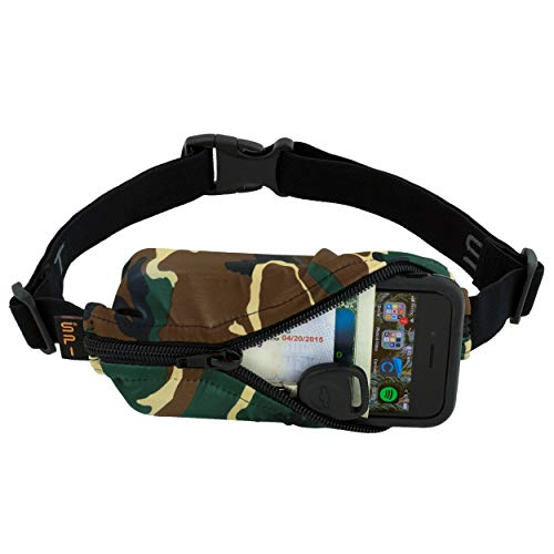 SPIbelt Running Belt Original Pocket, No-Bounce Waist Bag for Runners, Athletes Men and Women, fits Smartphones iPhone 6 7 8 X, Workout Fanny Pack, Expandable Sport Pouch, Adjustable Camo