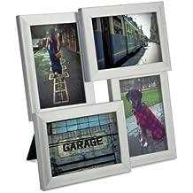 Umbra Pane 4-Opening, 4x6, Nickel Desktop Collage Frame