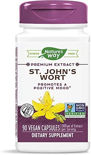 Natures Way St Johns Wort Standardized Capsule – 90 per pack — 3 packs per case.