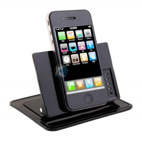 Xenda Universal Rotating Dash Smart Stand Car, Desk, Desktop Mount Dashboard Holder with Sticky Mats for Cell Phones, Smartphones, GPS Devices, iPhone, iPod by Xenda