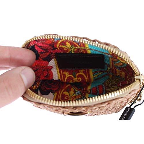 amp; Chain Beige Gabbana Wallet Bag Raffia Dolce Wristlet Clutch Txgawd