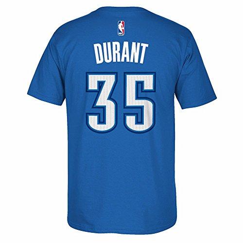 Adidas T-shirt Large Mascot (adidas NBA Oklahoma City Thunder The Go To Tee (Blue), XX-Large)
