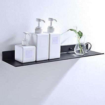 Danme Mensole da Bagno da Parete per Cucina 30 cm Accessori da Bagno rettangolari in Alluminio Doccia