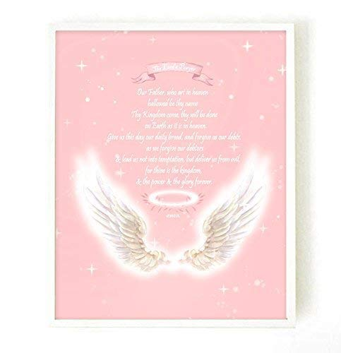 The Lord's Prayer Poster, Girl Room Decor, Nursery Decor, Nursery Poster,  Wall Art For Girls Bedroom, Wall Art For Kids, The Lord's Prayer Wall Decal