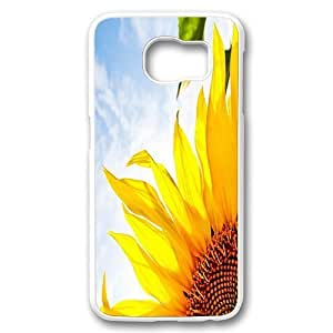 Samsung Galaxy S6 Case Cover,Sunflower Corner Photo Case for Samsung Galaxy S6 PC Plastic Hard Case White Kimberly Kurzendoerfer
