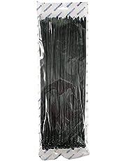 WAHSURE Plasttråd slipsar svart UV klassad buntband för fäktning resa utomhus, buntband 350 mm 22 kg 100 stycken