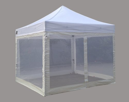 Eurmax Wheeled Bag 10 by 10 Pop up Canopy Tent Rolling Storage Bag (White)