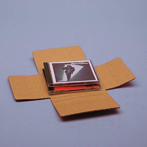 Vari-Depth CD Mailer 5-5/8'' X 5'' X 7/16-1-3/4'' - Die Cut Boxes - 100 each by Paper Mart