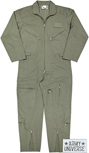 (Army Universe Air Force Flight Suits, US Military Type Coveralls, Uniform Overalls/Jumpsuits Pin (Foliage Green,)