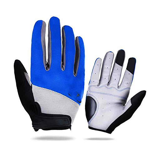 (ZZEEN Shirt Outdoor Sports Windstopper Waterproof Gloves Black Riding Glove Motorcycle Gloves Touch Screen Black Full Finger Men,Blue,M)