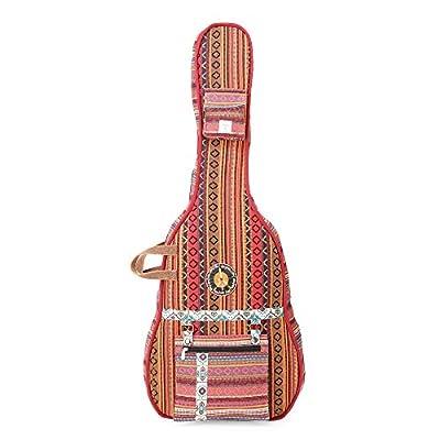 The House Of Tara Handloom Fabric Guitar Case (Multicolor 8) 1