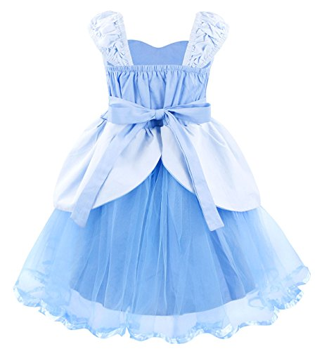 Cotrio Princess Cinderella Costume for Girls Halloween Cosplay Party Fancy Dress up Size 8 (130, Cinderella Tutu Dress) by Cotrio (Image #3)