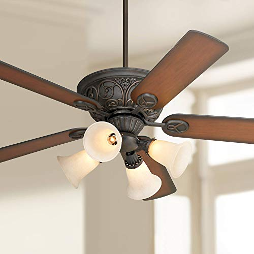 Casa Contessa Bronze Ceiling Fan with Light Kit – Casa Vieja