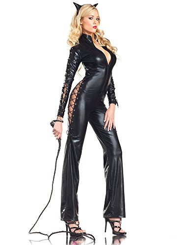Two Face Costume Female (Two-Faced Catwoman Adult Costume - Small/Medium)