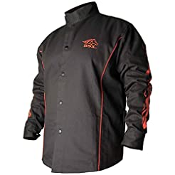 BSX BX9C Black W/ Red Flames Cotton Weld...