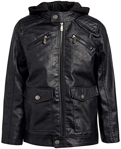 Youth Black Leather - 7