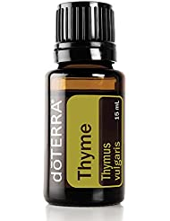 doTERRA Thyme Essential Oil - Provides Powerful Antioxidants, Supports Healthy Immune System, Naturally Repels Insects; For Diffusion, Internal, or Topical Use - 15 ml