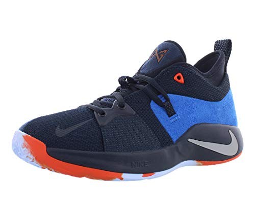 Nike Kids PG 2 (GS) Dark Obsidian/Metallic Silver Basketball Shoe 6.5 Kids US