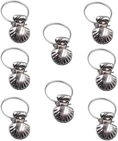 Xrten 8 St/ück Vorhang Clip Metall Clips Haken f/ür Gardinen /& Vorh/änge Vorhangringe mit Clip Vorhang Haken Silber