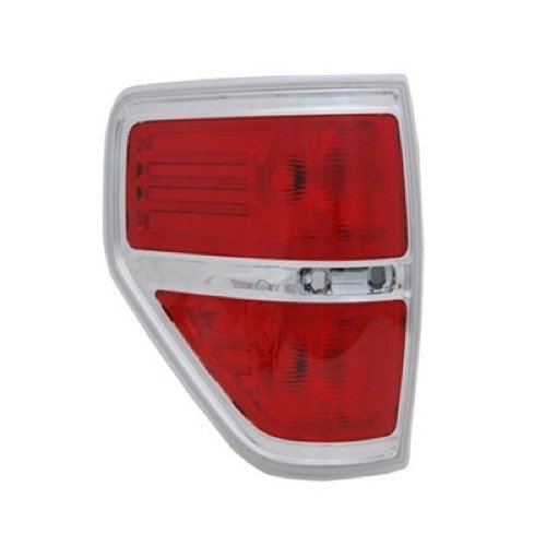 Go-Parts » Compatible 2009-2013 Ford F-150 Rear Tail Light Assembly Housing/Lens/Cover - Left (Driver) Side - (FX4 Styleside + Harley-Davidson Edition Styleside + King Ranch Styleside + Lariat)