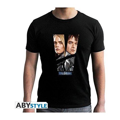 And Abystyle Ss Black Nuevo Man Abysse Abytex44835 ajuste camiseta Laureline Corp Valerian multicolor rqXxSCqnw