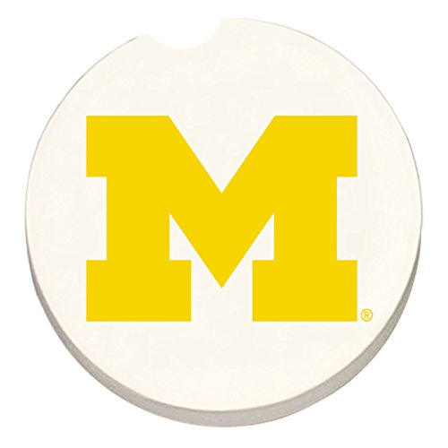 University of Michigan - Single Ceramic Car Coaster by ()