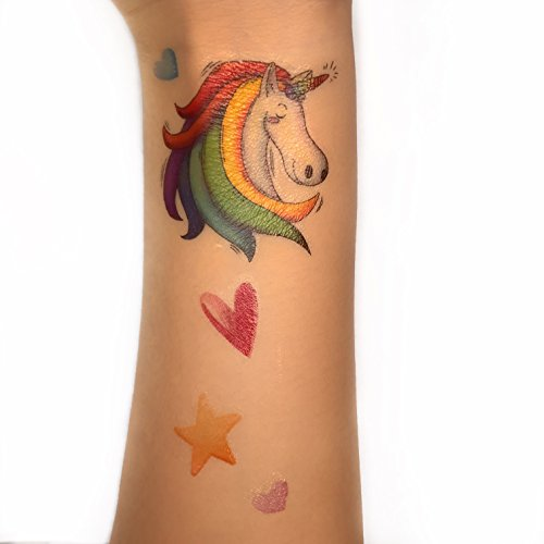 e11b2e12a MORDUN Unicorn Party Favors Temporary Tattoos Stickers 10 Sheets for Kids  Girls Boys Birthday Toddlers Baby