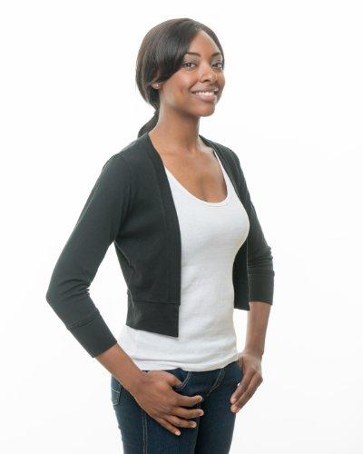 Secret Sweater Women's Packable 'Secret' Layering Cardigan M Black by Secret Sweater (Image #2)