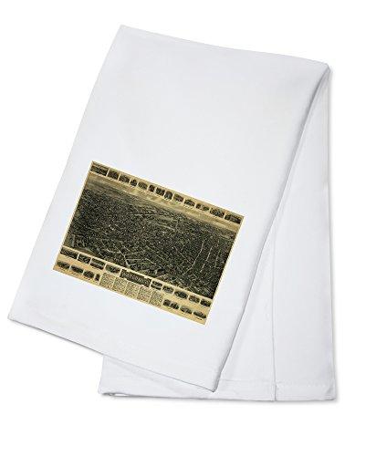 Waterbury Towel (Waterbury, Connecticut - Panoramic Map (100% Cotton Absorbent Kitchen Towel))