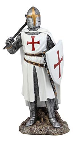 Ebros White Cloak Caped Medieval Crusader Bardiche