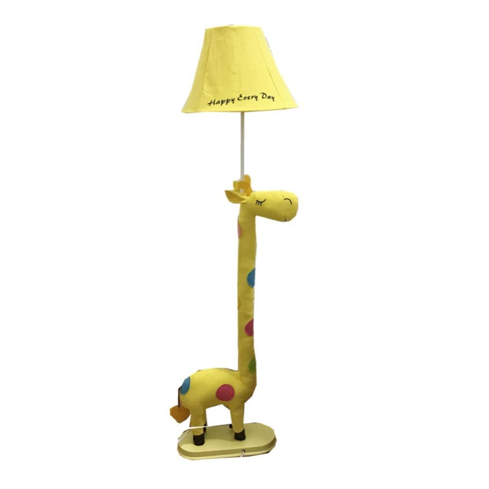 床ランプ クリエイティブアート漫画フロアランプ鹿フロアライトベッドルームベッドサイドアイリビングルームランプ漫画子供のギフト装飾 (色 : 黄, サイズ さいず : Remote control) B07S1FWGQ4 黄 Remote control
