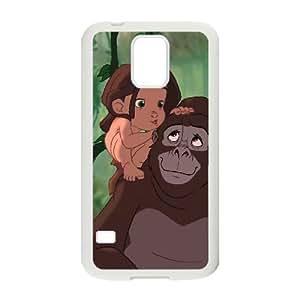 Tarzan 002 funda Samsung Galaxy S5 Cubierta blanca del teléfono celular de la cubierta del caso funda EVAXLKNBC18561