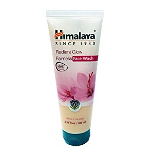 Himalaya Radiant Glow Fairness Face Wash & Cleanser with Saffron and Cucumber, Free from Parabens, SLS, Phthalates 3.38oz/100ml