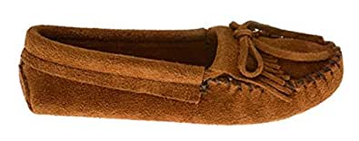 Minnetonka Shoes Womens Kilty Softsole Moccasin Fringe 4 Brown 102