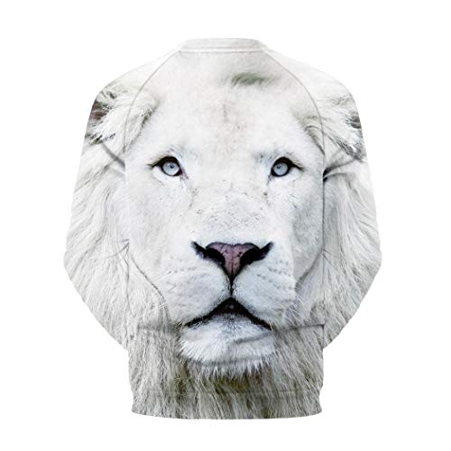 3D Casual Girocollo shirt Manica T Camicetta Top Uomo Aimee7 Bianco Tops lunga Stampa x8BRw6q