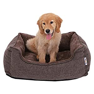 FEANDREA Washable Plush Dog Bed with Removable Cover, Dog Sofa 7