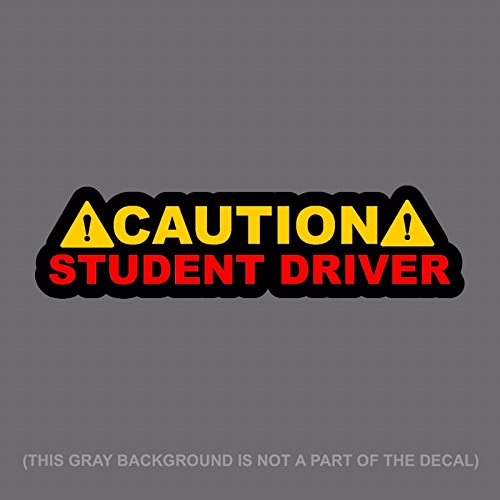 "OwnTheAvenue x2 Two Pack Caution Student Driver! Auto JDM Racing Drifting Decal Sticker 6"" #DigitalPrint"