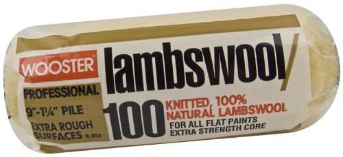 (Wooster Brush R293-9 Lambswool 100 Roller Cover, 1-1/4-Inch Nap, 9-Inch)