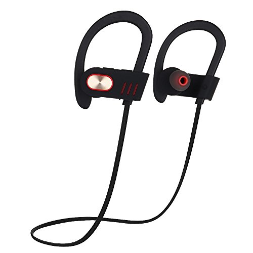 Bluetooth Headphones, OUZIFISH Best Wireless Sports Earphones w/Mic IPX7 Waterproof HD Stereo Sweatproof In Ear Earbuds for Gym Running Workout 8 Hour Battery Noise