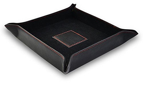 Leather Tray Bedside Storage Tray Box for Key Phone Coin Wallet Watches Mens Gift valet