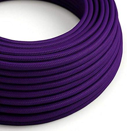 cuerda de c/á/ñamo vintage trenzado de alambre 0,75 mm 3 n/úcleos Cable flexible de tela trenzada de color italiano retro