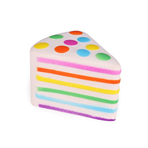 A Slice Of Cake - Vipe Slow Rising Squishy Slice Jumbo Squishies Cake Toy Cream Scented Slow Rising Hand Wrist Toy Color Random (Dot Cake)