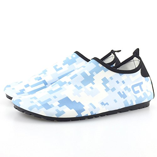 SENFI [Verbesserte Ver Quick-Dry Barefoot Wassersport Aqua Schuhe für Beach Surf Bootfahren Schnorcheln schwimmen M.aqua