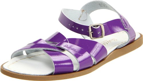 Salt Water Sandals by Hoy Shoe Original Sandal (Toddler/Little Kid/Big Kid/Women's), Shiny Purple, 9 M US Toddler