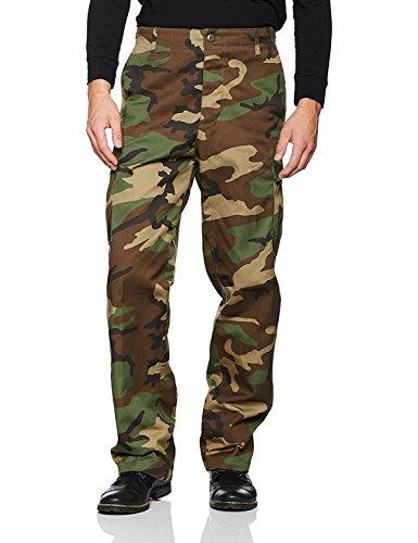 Mil-Tec Woodland Camo Ranger BDU Field Pants (Large) (Bdu Uniform Pants)