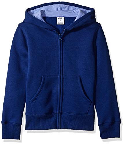 - Amazon Essentials   Girls' Fleece Zip-up Hoodie, Dark Blue M (8)